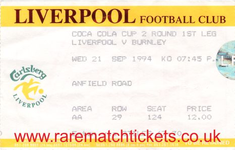 1994-95 lc r2 1st LIVERPOOL 2 BURNLEY 0 [ar]